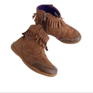 Fringe Brown Ankle Boots. Size 11
